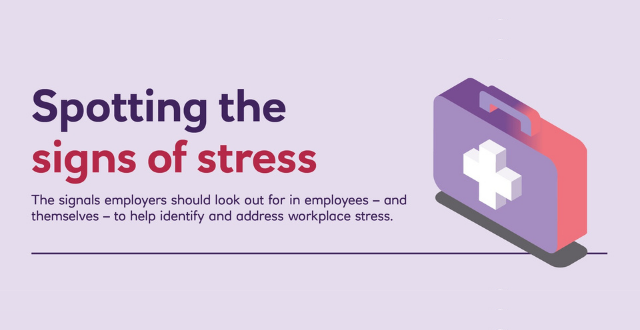 Spotting the signs of stress: infographic
