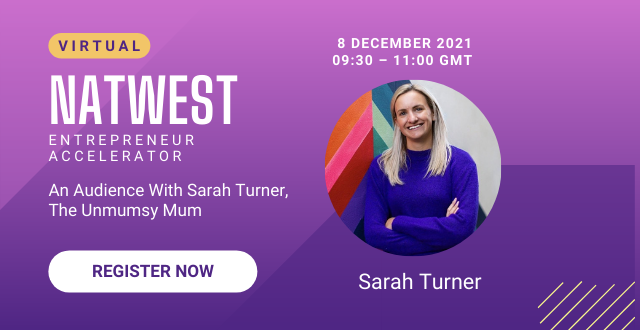 [VIRTUAL EVENT] An Audience With Sarah Turner, The Unmumsy Mum