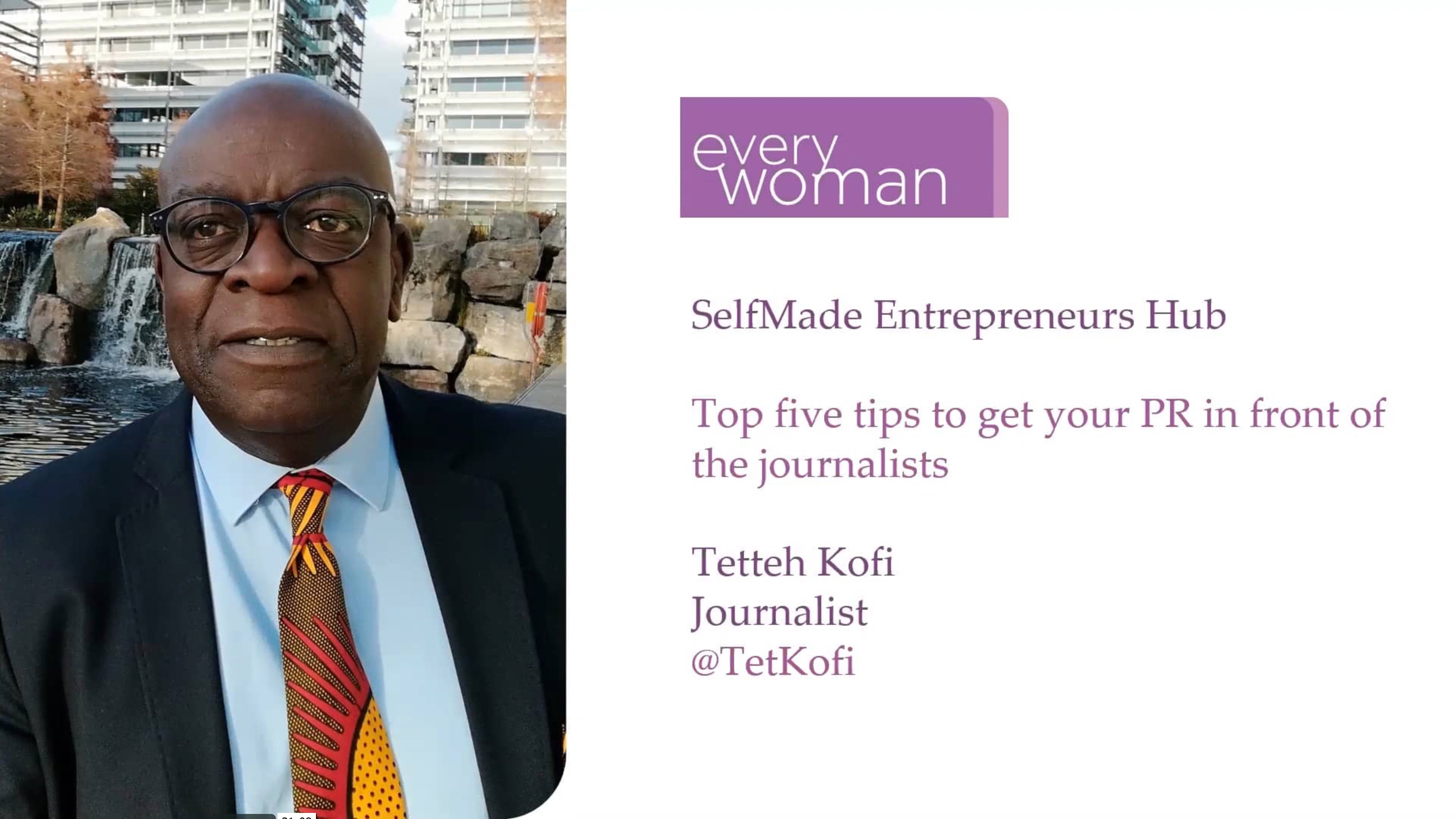 Top five tips to get your PR in front of journalists with Tetteh Kofi